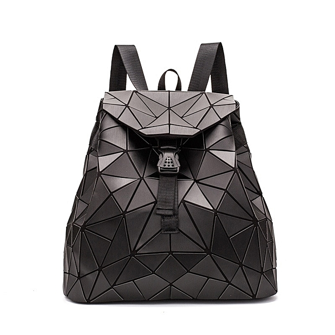 Other Irregular Geometric Triangle Sequin sac à dos femmes sacpack mode Female sac à doss for Girls rugzak back pack(noir) à prix pas cher