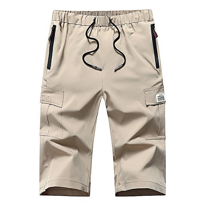 mode Hommes& 039;s Camouflage Quick-drying Youth Sports plage courtes-Khaki à prix pas cher