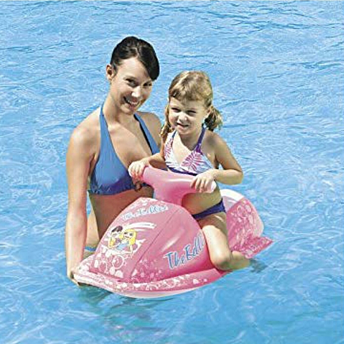 moto aquatique gonflable 89x46 cm jet ski piscine plage bou e voiture filles achat jeux. Black Bedroom Furniture Sets. Home Design Ideas