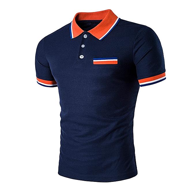 Fashion Jummoon Shop Mens Buttons Design Half Cardigans Short Sleeve Slim Fit Casual T Shirt NY L à prix pas cher