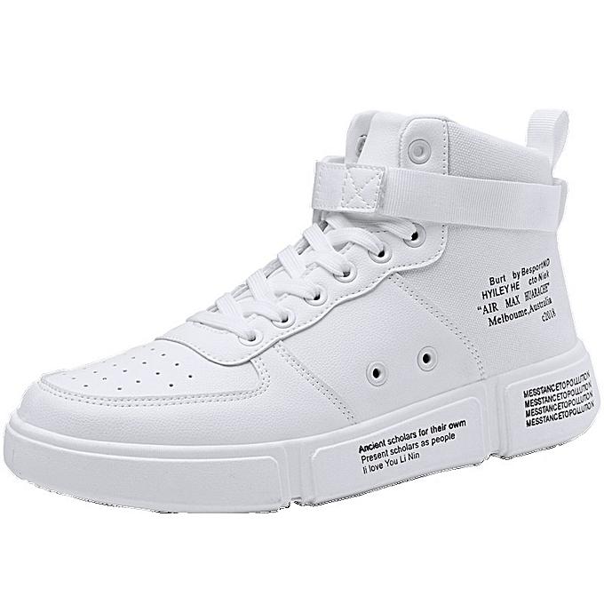Other Hommes's Autumn Korean Trend Air Force No. 1  Sports Leisure chaussures-blanc à prix pas cher