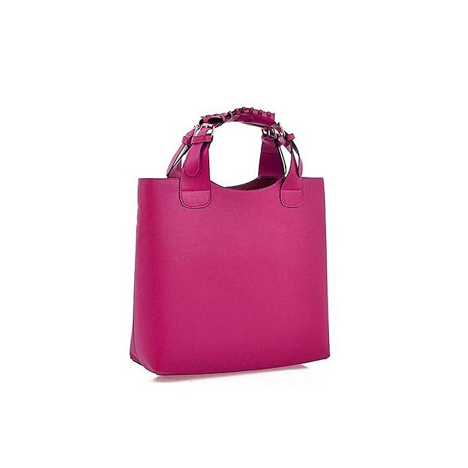 TOPRANK femmes Casual Handbag Shoulder Bags Tote Purse Pu Leather Ladies Messenger Bag ( rouge ) à prix pas cher