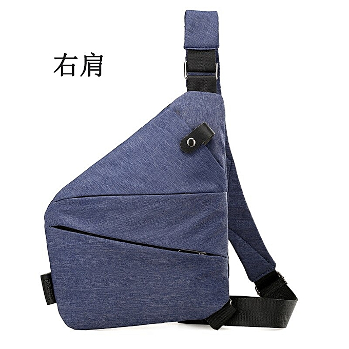 Other Men 's chest bag popular new canvas men travel small bag multi - functional satchel crossbody  shoulder bag simple boys hand bag(navy right) à prix pas cher