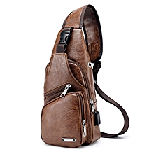 28eccff4bc 2018 New Style Fashion Solid Men's Canvas Sling Messengers Bag Travel  Casual