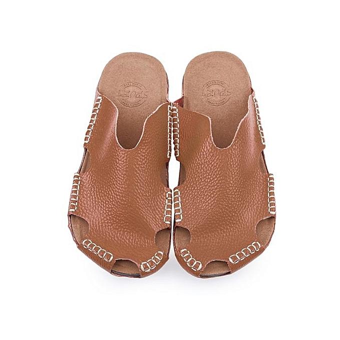 Fashion Stylish Male Closed Toe Solid Color Hollow Skid Resistance Resistance Resistance Leather Slippers à prix pas cher    Jumia Maroc 92aafc