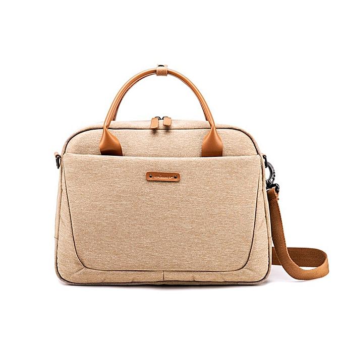 Other Laptop Bag Waterproof Notebook Bag for Macbook Air Pro Laptop Shoulder Handbag Briefcase Work Travel Tote Bag  Men and femmes(marron) à prix pas cher