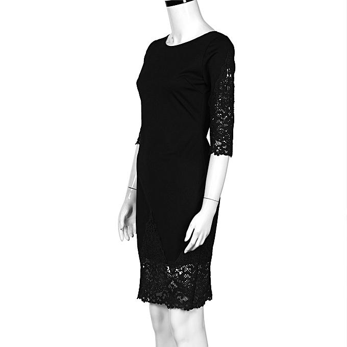 Fashion New Sexy femmes Lace Half Sleeve Cocktail Party Short Mini Dress BK L à prix pas cher
