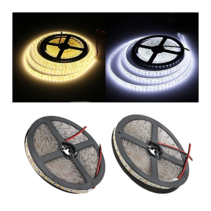 UNIVERSAL 5M 15W DC12V 600 SMD 2835 Waterproof IP65 blanc Warm blanc Tape LED Flexible Strip light à prix pas cher