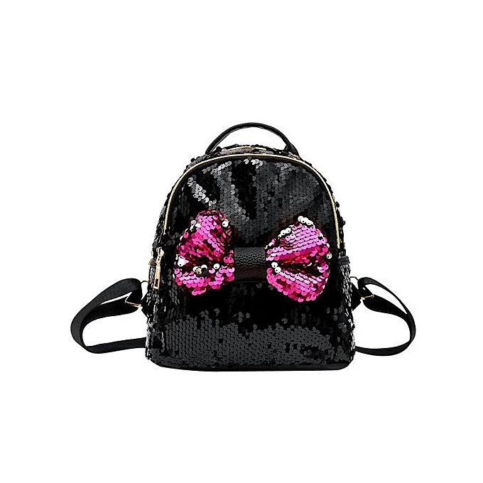 mode Tectores mode Sequins Bow cravate School sac sac à dos Satchel femmes voyage Shoulder sac à prix pas cher