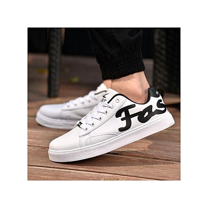 Generic Fashion Men's Low Top Men's baskets High Quality Leather Casual noir chaussures-blanc à prix pas cher