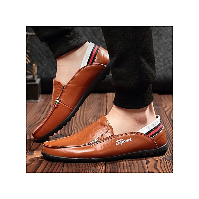 Fashion  's Leather Loafer With Stripe At Back-Brown à à Back-Brown prix pas cher  | Jumia Maroc 2c78b2