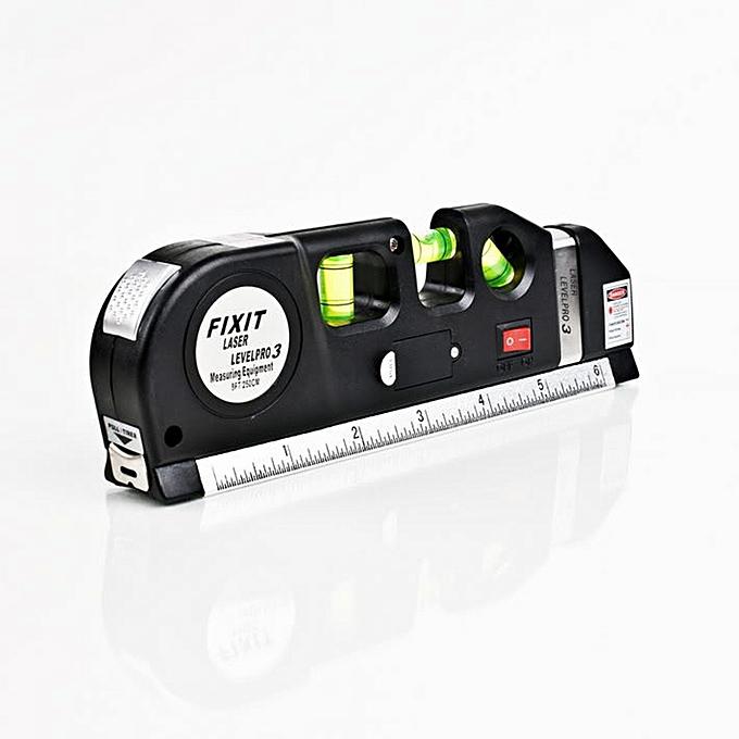 Autre Multipurpose Level Laser Horizon vertical Measure Tape 8FT Aligner Bubbles Ruler Tool Multipurpose Measure Level Laser à prix pas cher