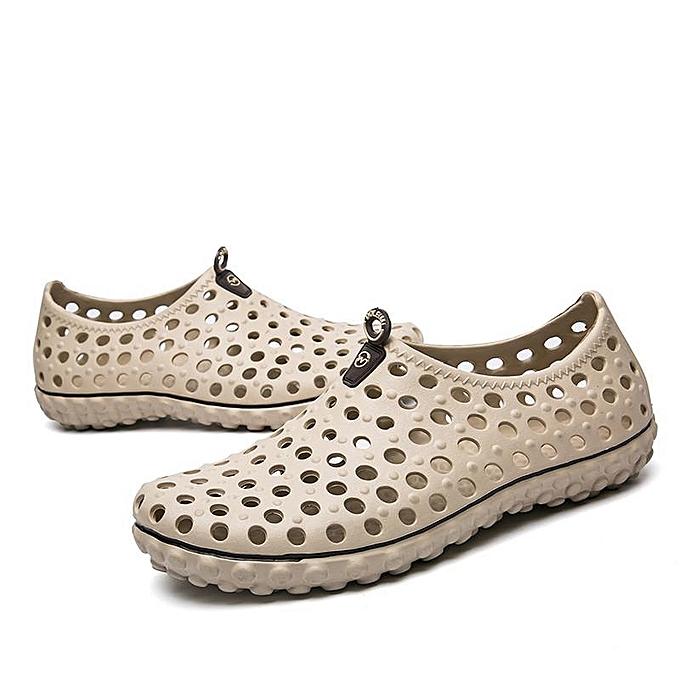 Fashion Fashion Men Hollow Out Sandals Breathable Casual Outdoor Flats Flip Flops Sandals-EU à prix pas cher