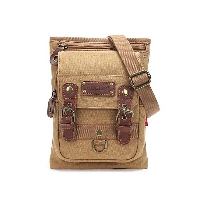 Generic Nice Leisure Shoulder Bag Canvas Vintage Messenger Bag Men's Chest Bag à prix pas cher